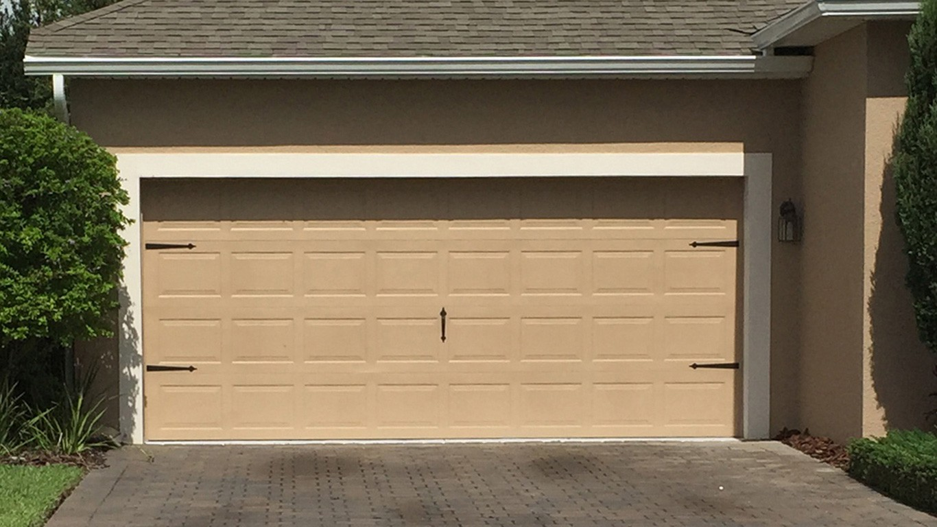 Garage door installation flagler county volusia county for Two car garage doors