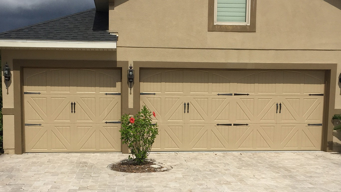 768 #886E43 Carriage House Steel Garage Doors save image Steel Overhead Doors 38071366