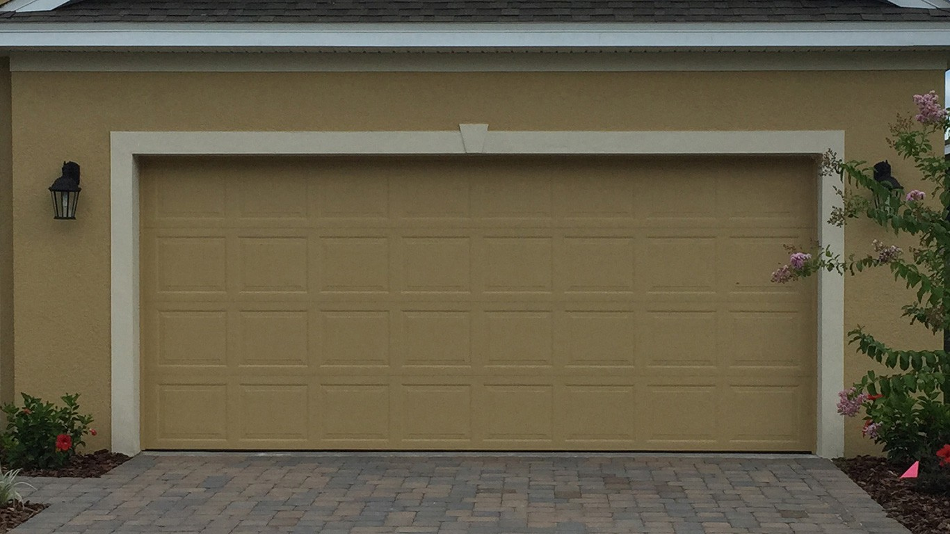 Standard garage door Standard garage door with raised panels - 16 feet by 7 feet ... : door 16 - pezcame.com